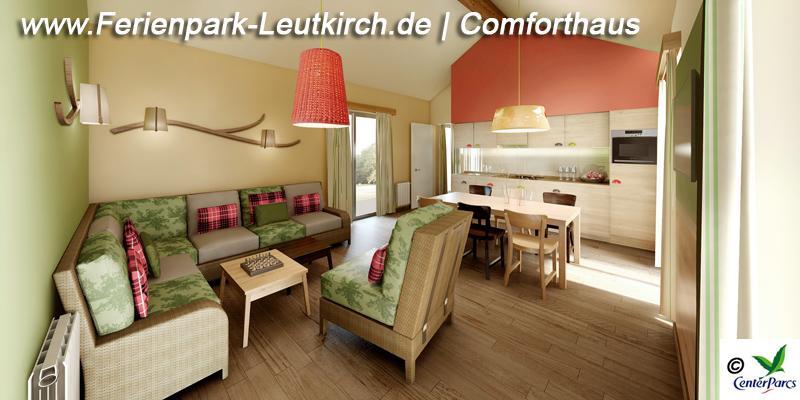 Haustyp Comforthaus Centerparc Ferienpark Leutkirch im Allgäu