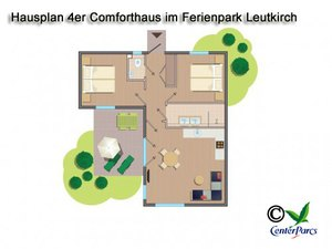 Hausplan 4er-Comforthaus im Centerparc Allgäu