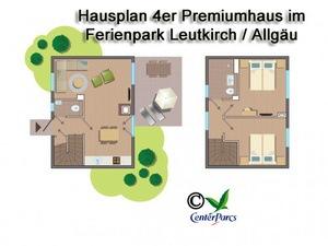 Hausplan 4er-Premiumhaus im Centerparc Allgäu