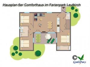Hausplan 6er-Comforthaus im Centerparc Allgäu