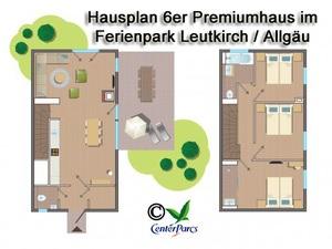 Hausplan 6er-Premiumhaus im Centerparc Allgäu