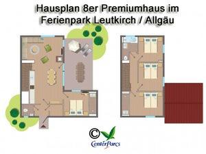 Hausplan 8er-Premiumhaus im Centerparc Allgäu