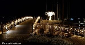 Weihnachtesdeko im Zentralbereich Center Parcs Allgäu Ferienpark Leutkirch