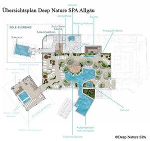Grundriss Plan vom Deep Nature SPA | Center Parcs Allgäu Ferienpark Leutkirch