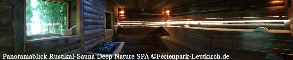 Rustikal-Sauna Deep Nature SPA Center Parcs Allgäu Ferienpark Leutkirch