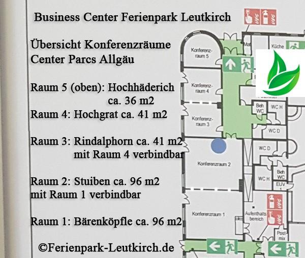 Lageplan Aufteilungsplan Business Center Parcs Allgäu