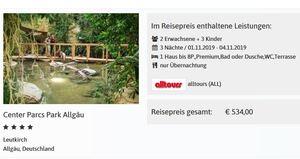 Angebot Alltours Center Parcs Allgäu