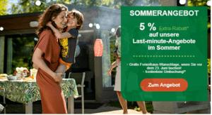 Sommerangebote 5 Prozent